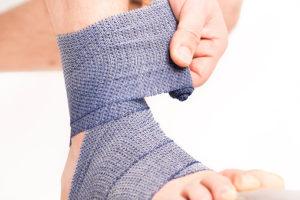 Stukad fot Ankelskada rehab Stukningar